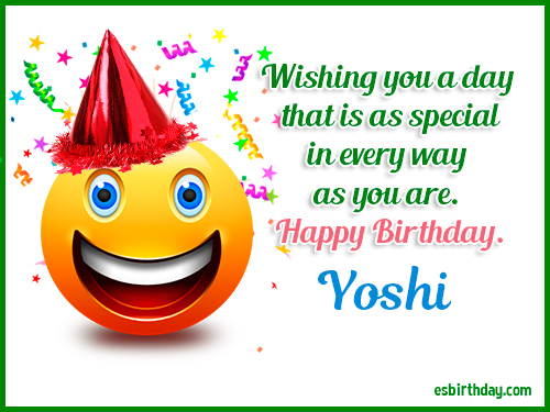 Yoshi Happy birthday