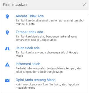 Mengubah Nama Jalan di Google Maps