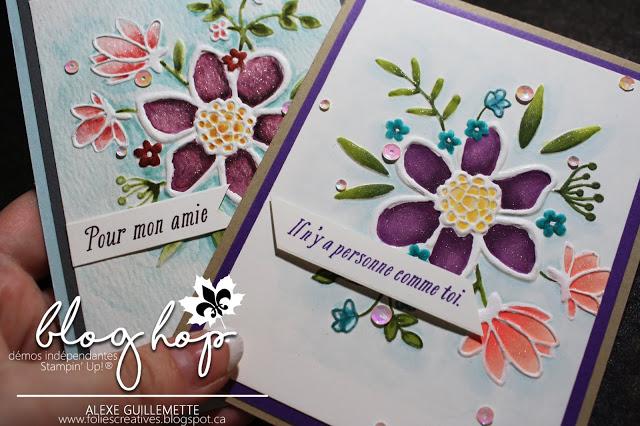blog hop de juillet création florale avec plioir à gaufrage
