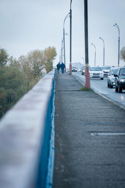 One of the bridges in Semey