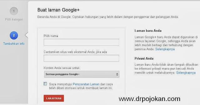 tutorial membuat laman google plus