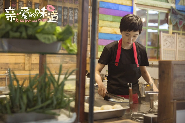 kiss, love and taste Chinese food romance