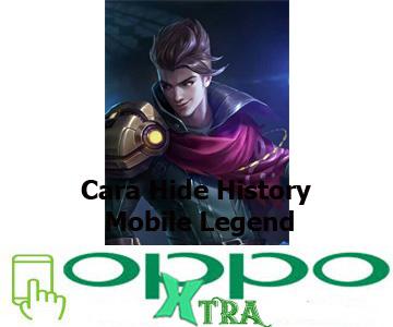 Cara Hide History Mobile Legend