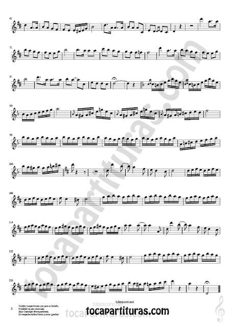 2  Flauta Travesera, flauta dulce y flauta de pico Partitura de Czardas Sheet Music for Flute and Recorder Music Scores