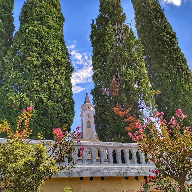 Selce, kościół świętej Katarzyny, widok na zabytek, Chorwacja