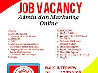 lowongan kerja admin dan marketing online di surabaya