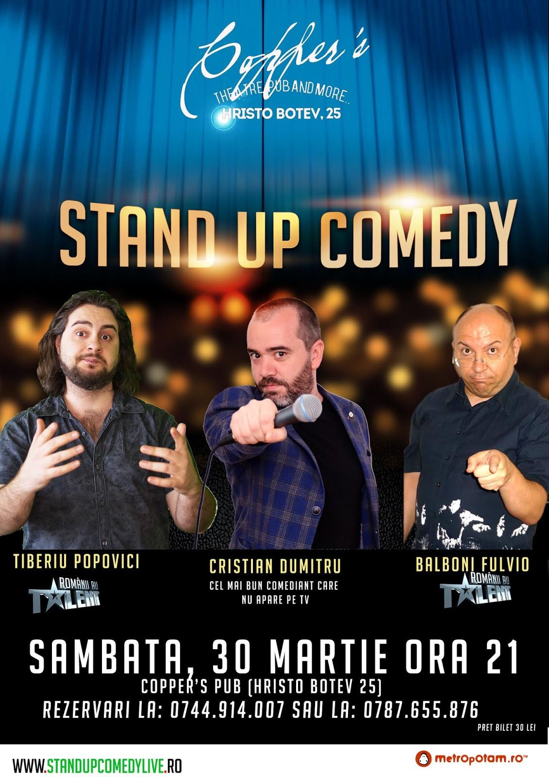 Stand-Up Comedy in Bucuresti Sambata Seara (30 martie)