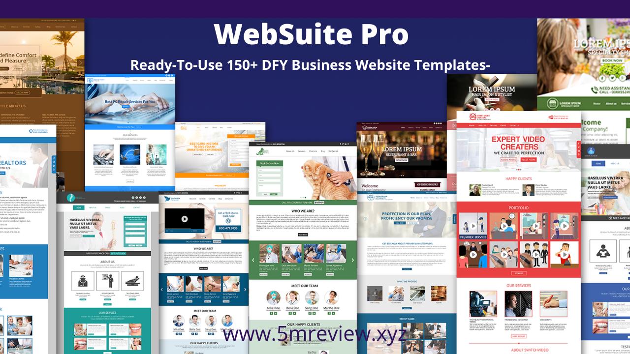 WebSuitePro Review - 150+ Premium Tempaltes
