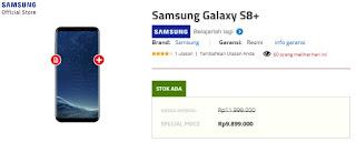 Harga Samsung Galaxy S8 Plus di Indonesia turun menjadi Rp 9.899.000 di Erafone (update April 2018)
