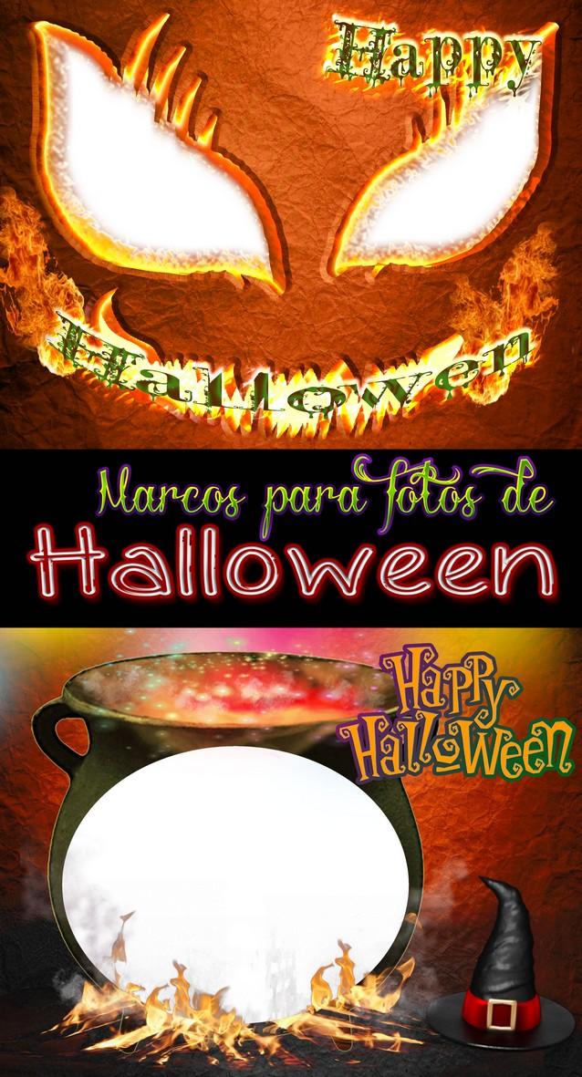 2 Marcos para colocar fotos de Halloween