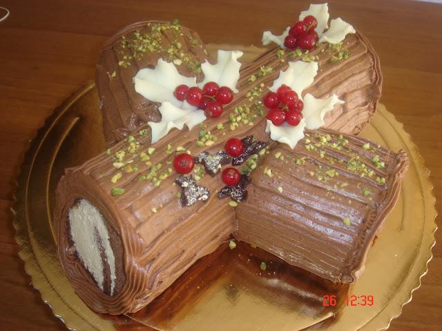 Decorare Il Tronchetto Di Natale.Vaniglia E Cioccolato Tronchetto Di Natale Con Crema Al Caffe