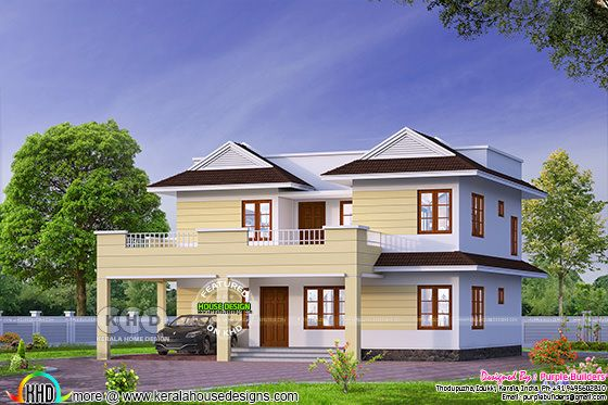 2370 sq-ft storied Kerala home design
