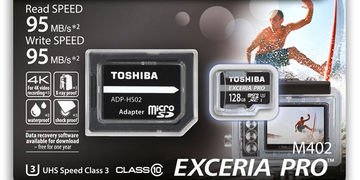 EXCERIA PRO M402は、A1対応・U3対応・読み書き95M/s