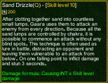 naruto castle defense 6.0 Sand Drizzle detail