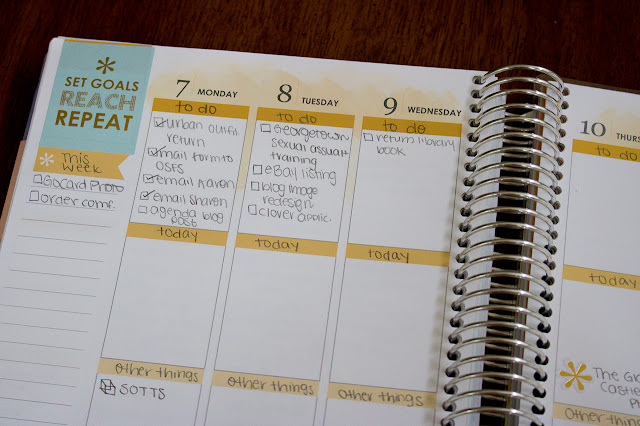 Lauren Alston's Erin Condren Life Planner vertical layout with colorful theme