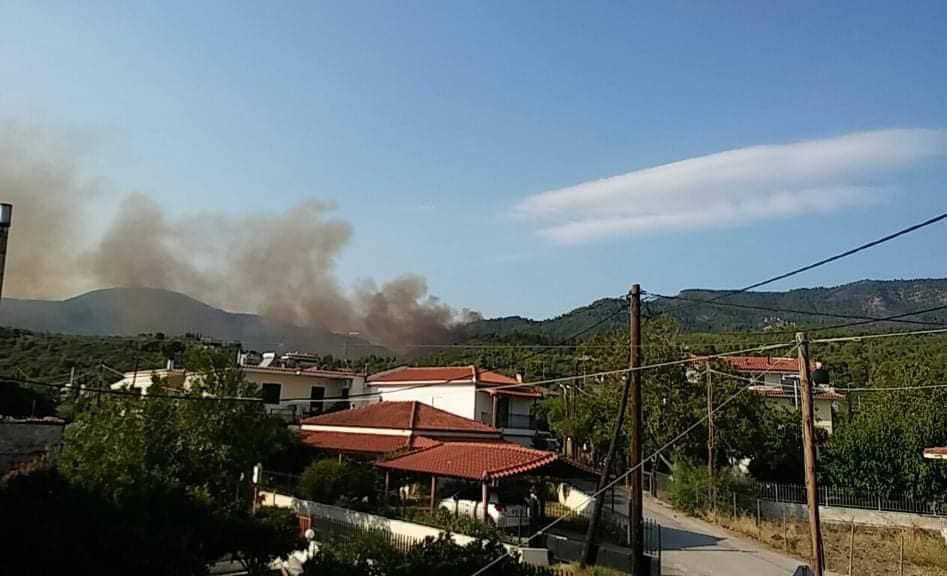 Φωτιά στις Ροβιές - πηγή φωτογραφίας: Μαρία Παναγιώτου (facebook.com)
