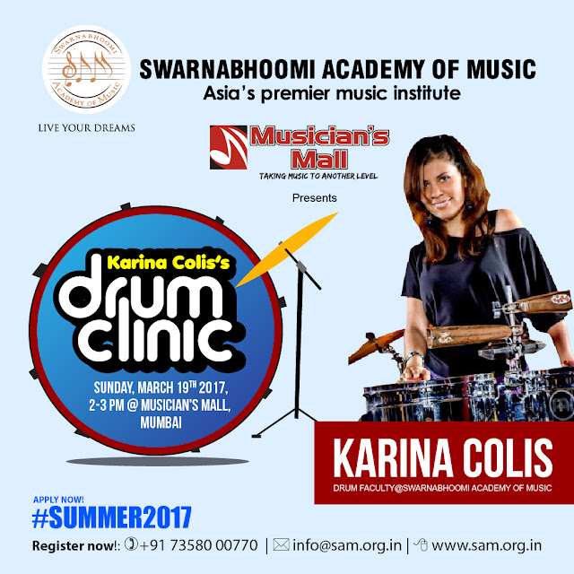 Karina Colis' Drum Clinic Workshop at Mumbai