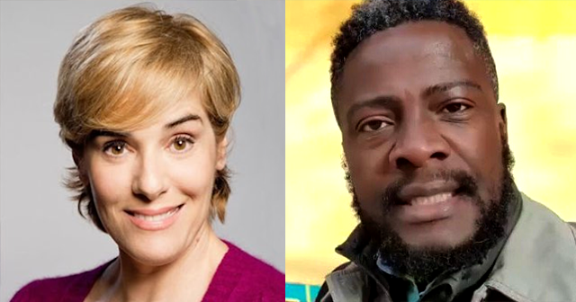 Anabel Alonso y Bertrand Ndongo