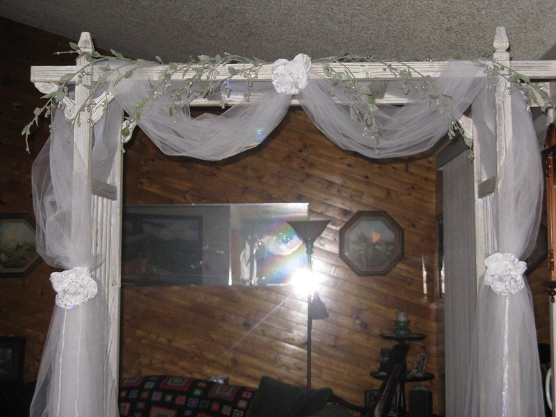 The Top Of Wedding Arch As It Looked In Our Living Room