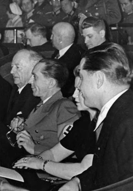 Joseph Goebbels at a film premiere on 4 March 1942, worldwartwo.filminspector.com