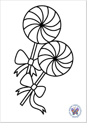 Sweet lollipop coloring page-3