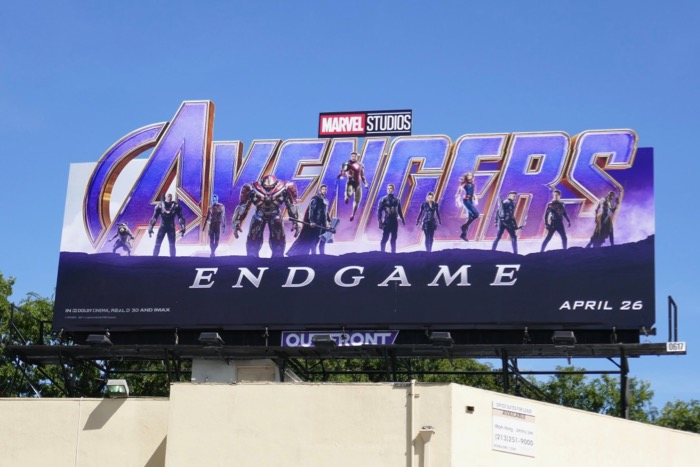 Avengers Endgame extension cut-out billboard