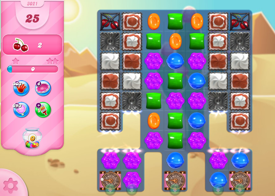 Candy Crush Saga level 3021