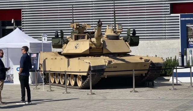 Tank Abrams với trang bị phòng thủ Trophy APS