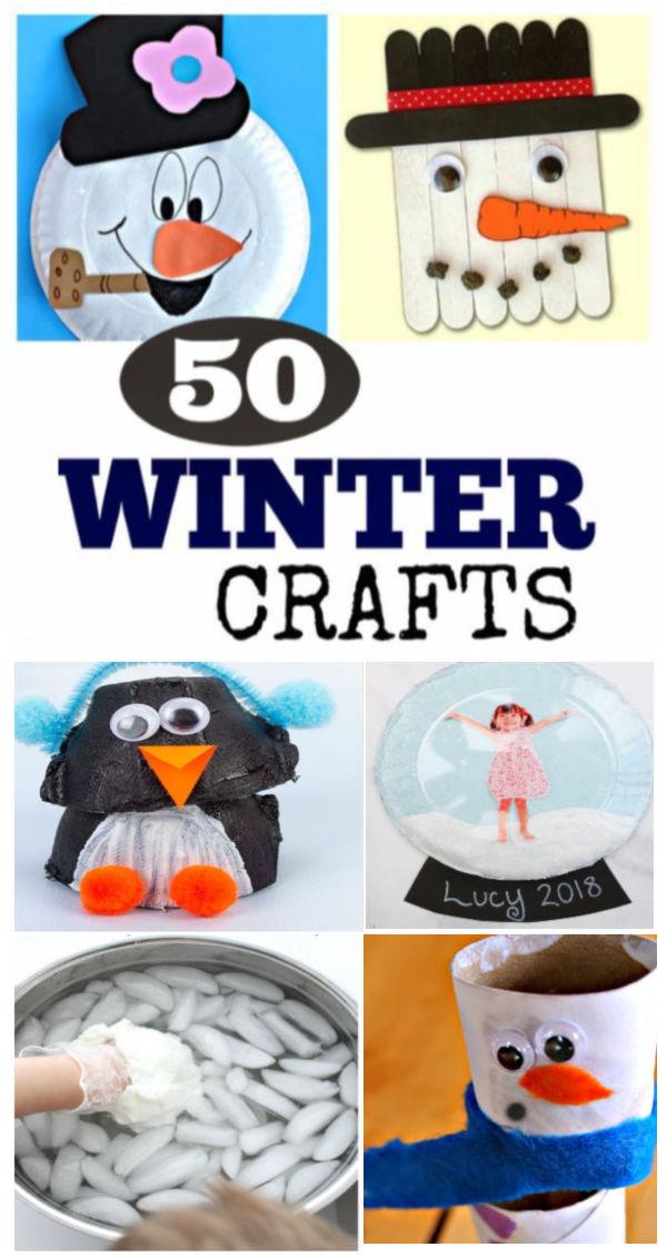 A collection of winter crafts and activities for kids #winteractivitiespreschool #wintercraftsforkids #winterartprojects #growingajeweledrose #activitiesforkids