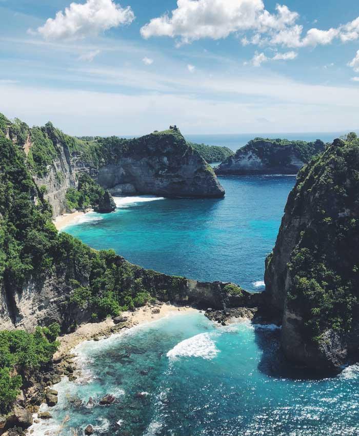 Rute Pantai Diamond Beach Nusa Penida