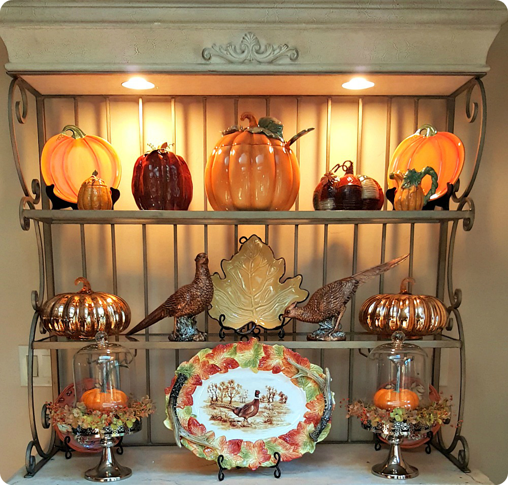 autumn inspired bakers rack life and
