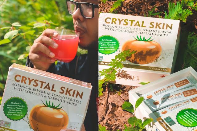 Lelaki & Perempuan Boleh Rawat Kulit Bermasalah Dengan Minum Crystal Drink