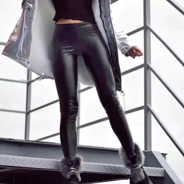 Faux Leather Shiny Fashion Legging