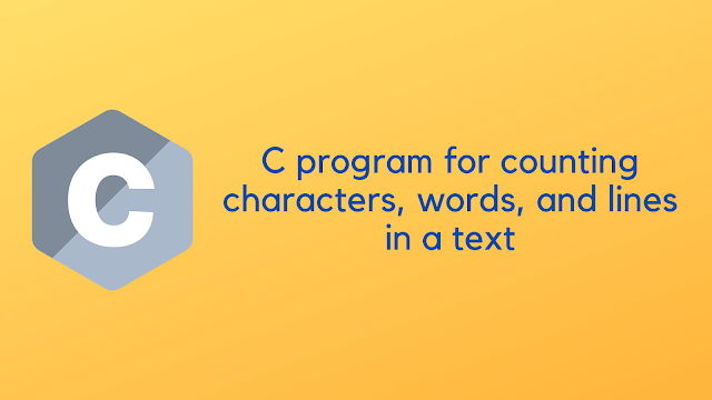 C program for counting characters, words, and lines in a text