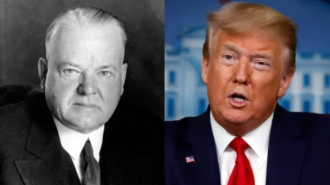 Trump, like Herbert Hoover, the person who doesn't care. Biden can make it stick.