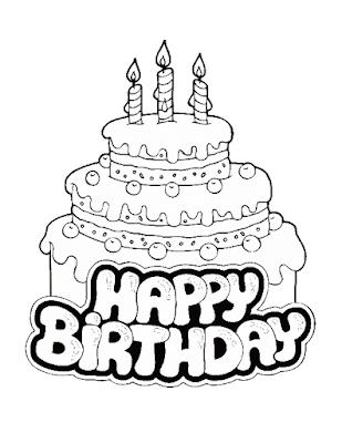 Gambar Mewarnai Kue Ulang Tahun - 17