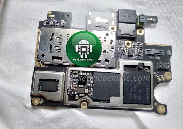 Kode Dan Letak Pemasangan iC Pmi-Wcn-eMMC Redmi 7