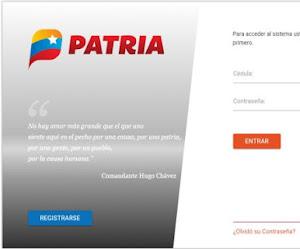 """Registro trabajadores en la pagina www.patria.org.ve Opción """" Laboral"""""""