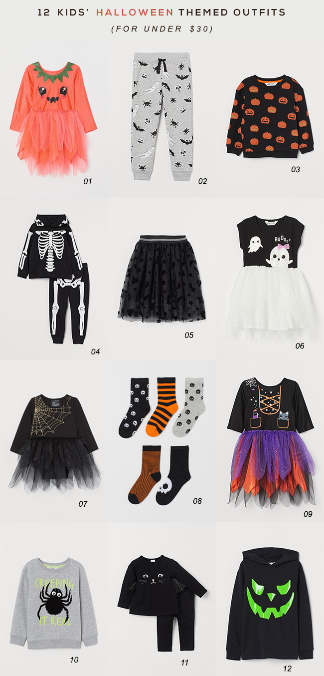 12 Halloween Themed Kids Outfits (Under $  30)