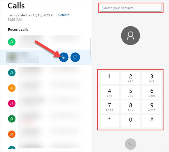 كيفية إجراء المكالمات