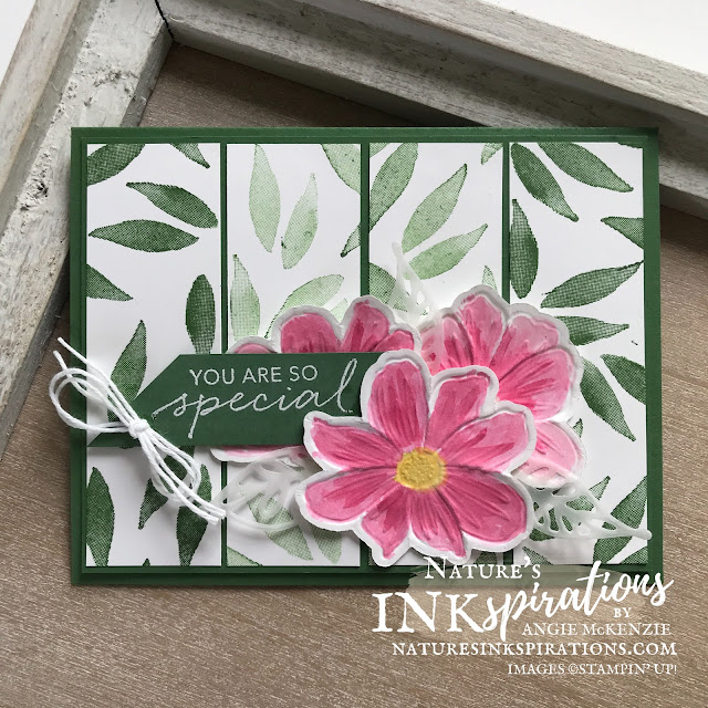By Angie McKenzie for #FMS491 Sketch Challenge entry; Click READ or VISIT to go to my blog for details! Featuring the Art in Bloom Bundle with coordinating dies and a Hybrid Bloom Embossing Folder along with the Tasteful Touches Cling Stamp Set for the sentiments; #FMS491 #freshlymadesketchesentry #stampinupdemo #cas #layering  #handmadecards #naturesinkspirations #encouragementcards #cardchallenges #stampinup #artinbloom #hybridbloom #tastefultouches #watercoloringwithink #cardtechnique #inspiredbynature