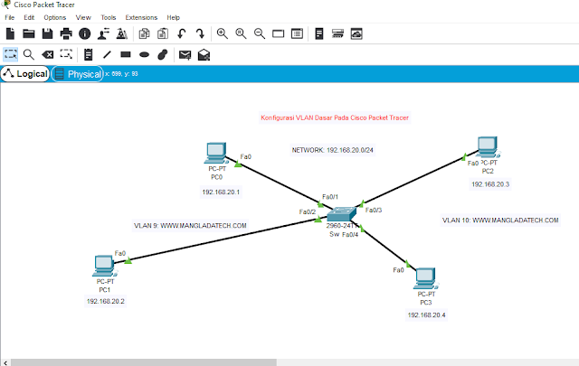 konfigurasi vlan cisco packet tracer