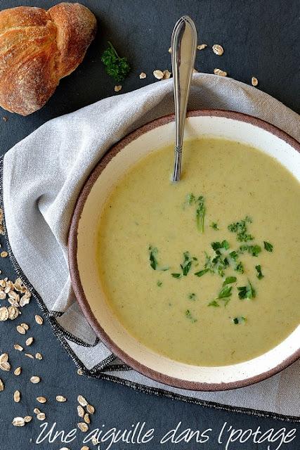 cuisine irlandaise-soupe-poireaux-avoine