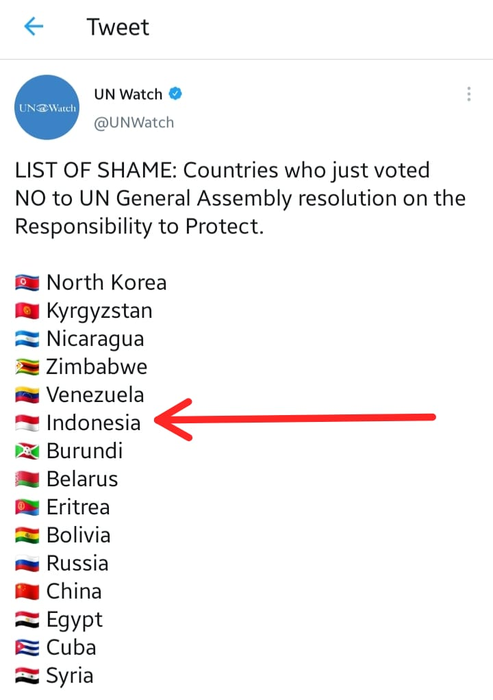 Indonesia Masuk Daftar Memalukan