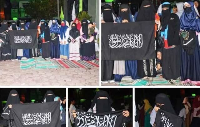 Beredarnya Foto Pembentangan Bendera Tauhid di MAN 1 Tulungagung