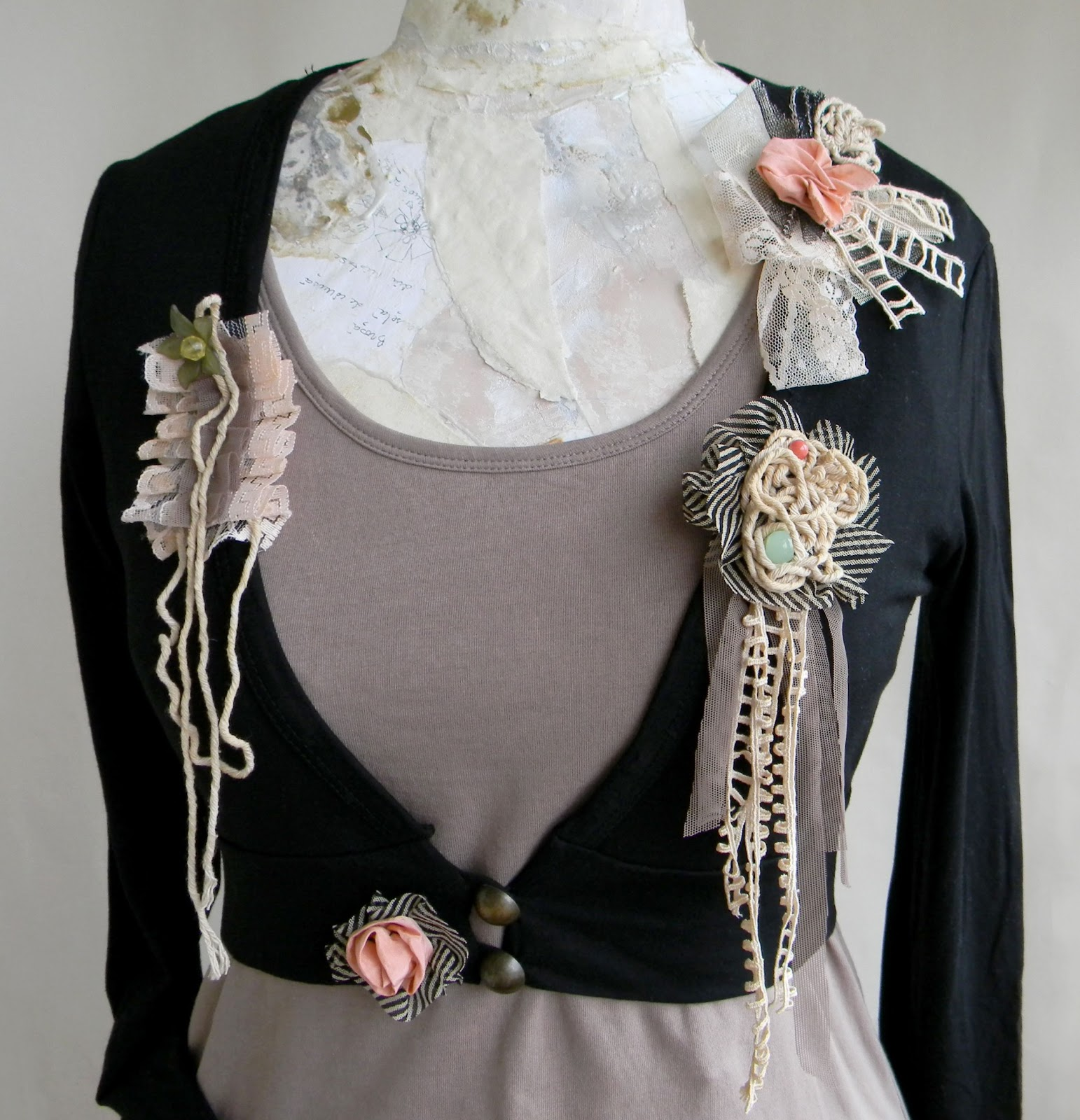 Unique Handmade Bolero Blouse Jacket Fashion Original Clothing Handcrafted Fashion