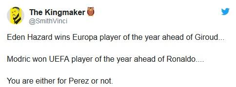 Europa League: Eden Hazard Wins The UEFA Europa Player Of The Season Award