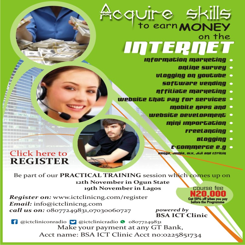 Acquire Skills To Earn Money Online.