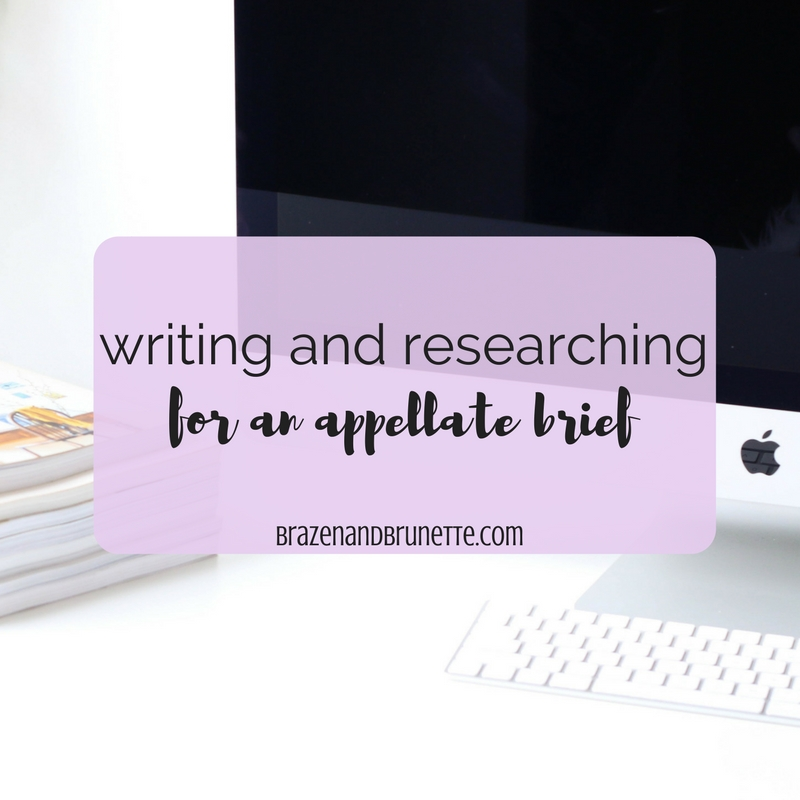 writing a appellate brief