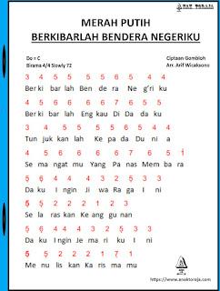 Partitur Lagu Berkibarlah Bendera Negeriku - Gombloh
